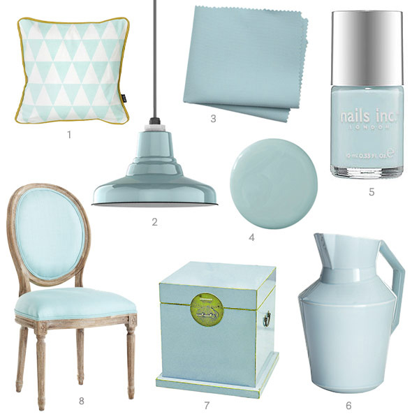 HOUSE BEAUTIFUL IS OBSESSED WITH LIGHT AQUA TOO!!!