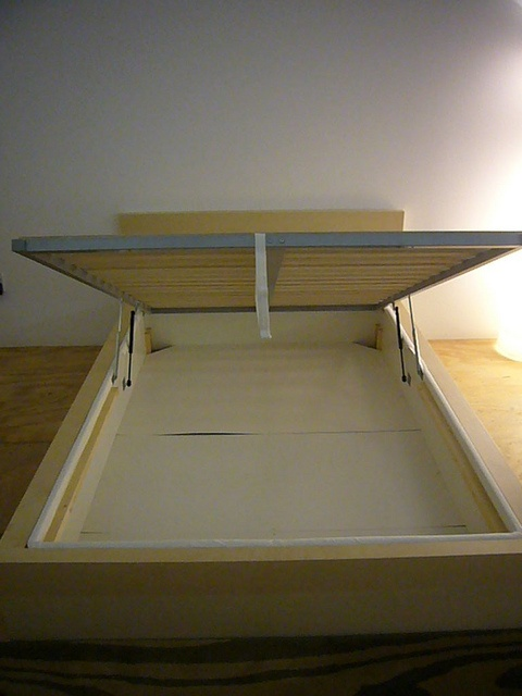 IKEA BED THE WHOLE UNDERSIDE IS STORAGE!!!
