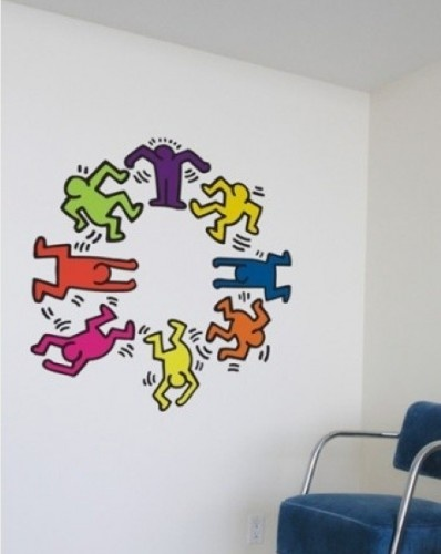 I ADORE THESE KEITH HARING WALL DECALS!