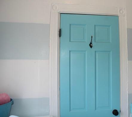 DOOR PAINTED BENJAMIN MOORE FAIRY TALE BLUE