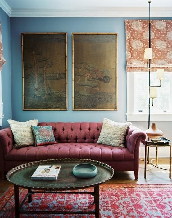 Design Dilemma Decorating Around The Burgundy Sofa