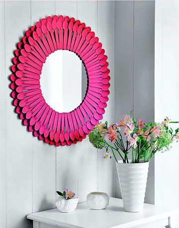 DIY SPOON MIRROR FROM COUNTRY LIVING MAGAZINE
