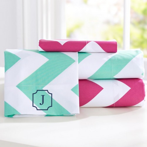 pb teen chevron sheet set