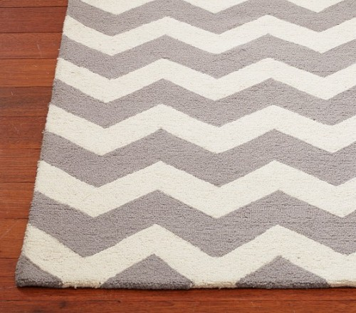 chevron wool rug pottery barn kids