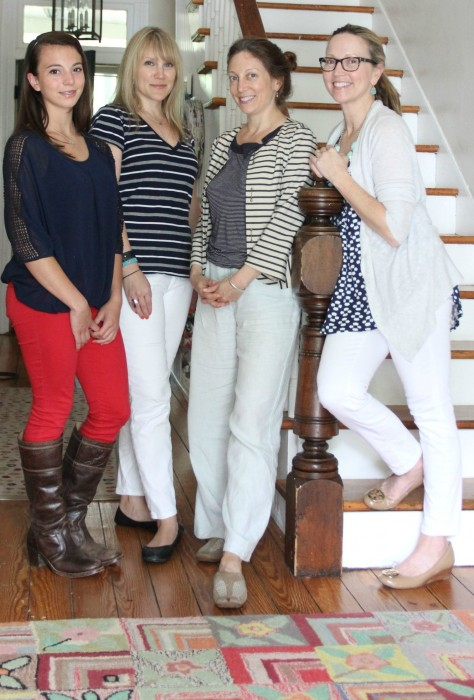 THE GIRLS: PHOEBE, TINA THE PHOTO DIRECTOR, LYNDA THE PHOTO PROP STYLIST AND ME!