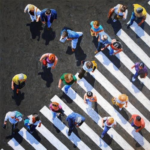 JIM ZWADLO Pedestrians 2012-II, 2012