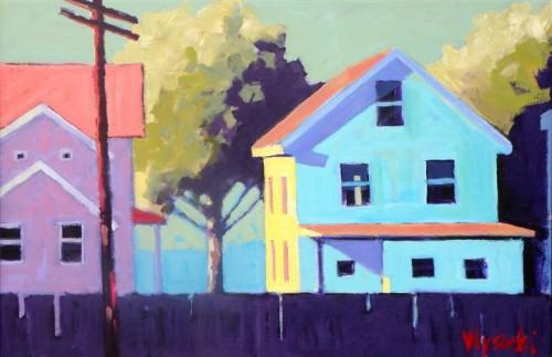 STEPHEN WYSOCKI Two Houses, 2012