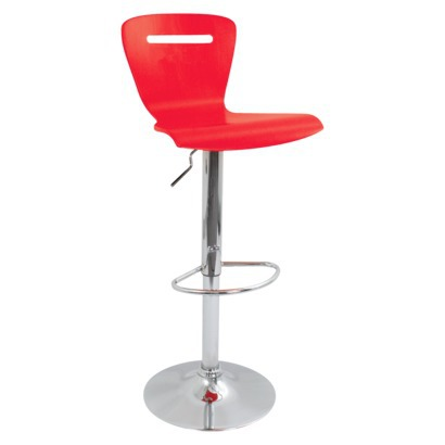 H2 Bent Wood Barstool - Red