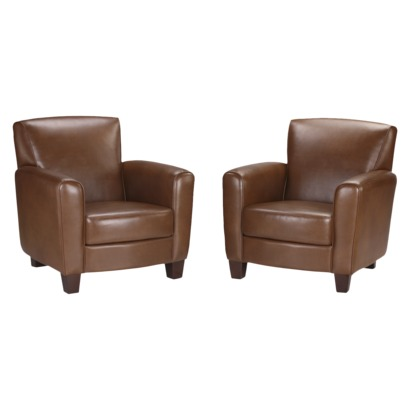 Threshold™ Nolan Bonded Leather Club Chair - Camel (2 Pack
