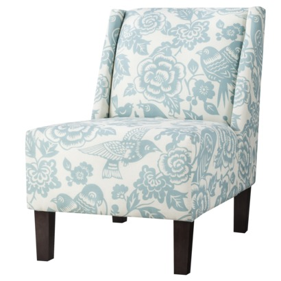 Hayden Armless Chair - Blue Flora