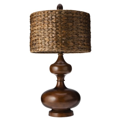 Mudhut™ Gourd Table Lamp with Seagrass Shade (Includes CFL Bulb