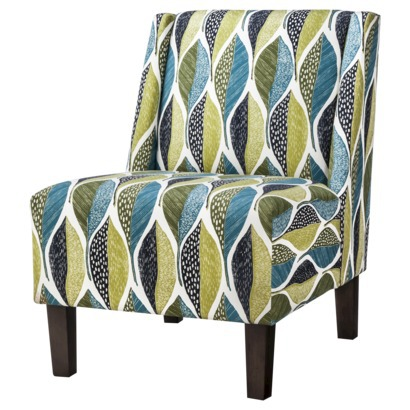 Hayden Armless Slipper Chair - Leaf pattern