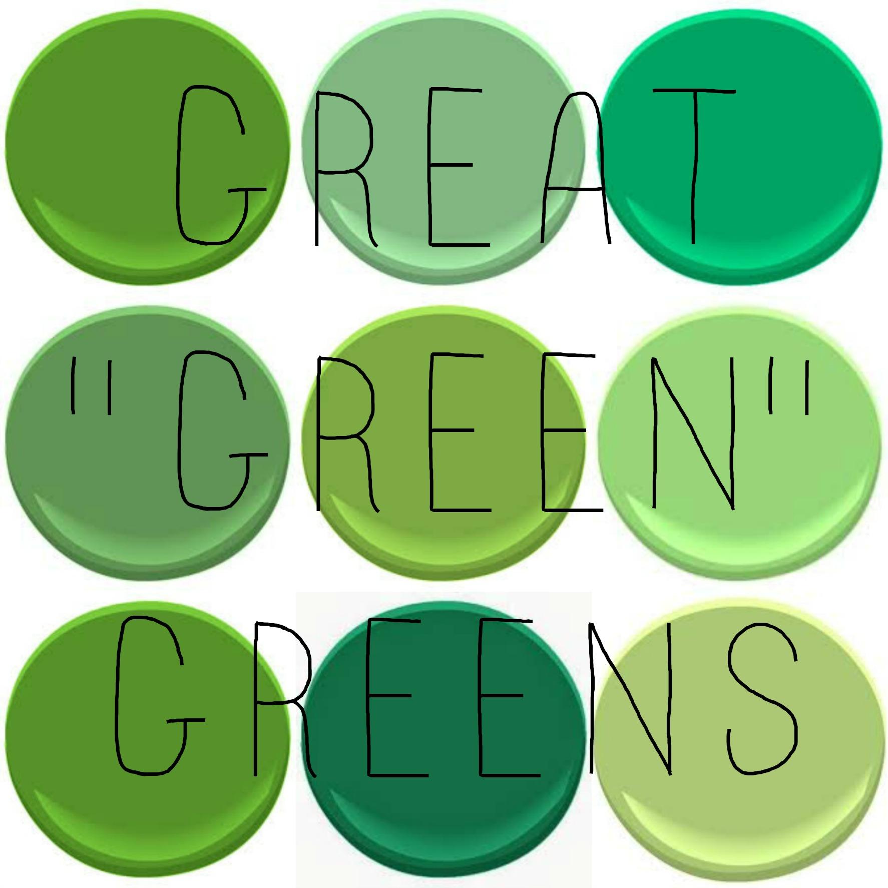 Benjamin Moore Great Greens Basil Green Cedar Richmond Rosemary Spring Leaf Yellow Stem