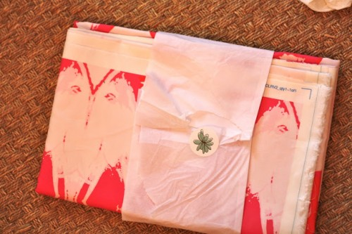 SPOONFLOWER FABRIC COMES WRAPPED SO NICELY