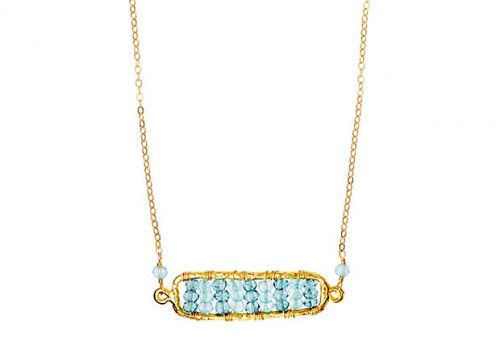 BLUE TOPAZ BEADED NECKLACE