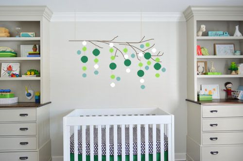 Young House LOVE NURSERY WITH POPS OF KELLY!