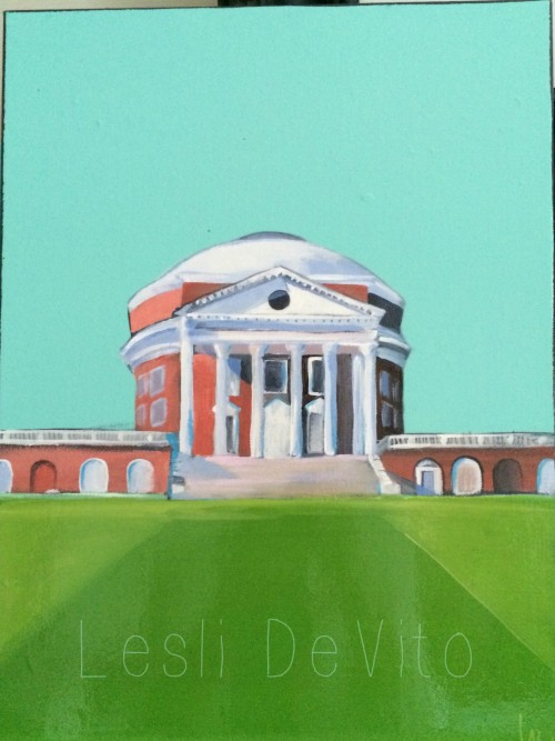 This is just one of a series of ROTUNDA paintings done just for this show!