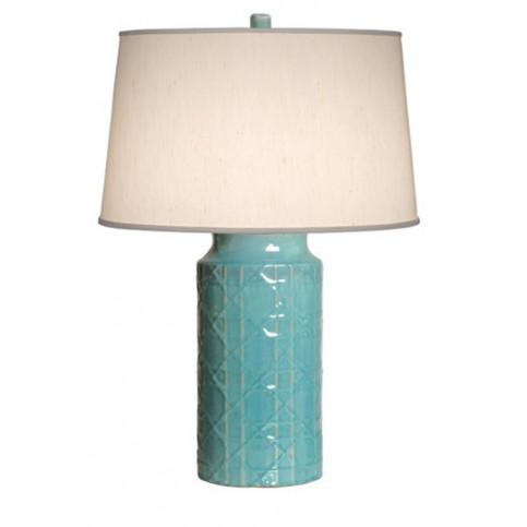 Turquoise Cane Vase Lamp