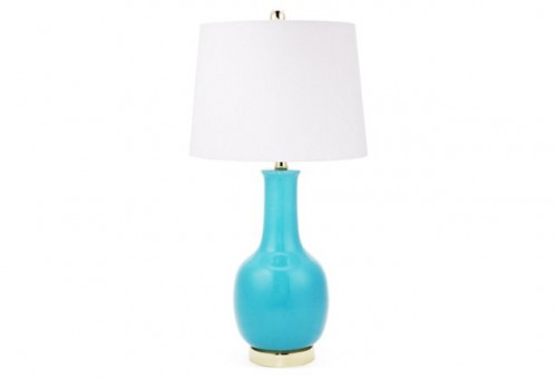 ONE KINGS LANE -Margo Table Lamp, Turquoise