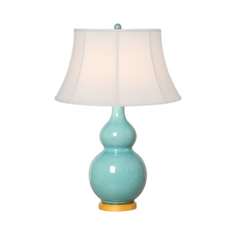 GOURD LAMP IN TURQUOISE