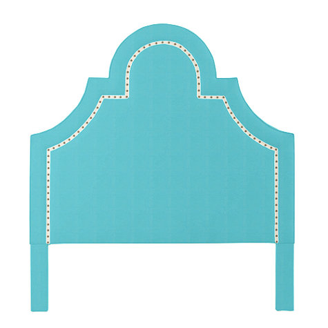 ALLY BED WITH BRASS NAILHEAD TRIM