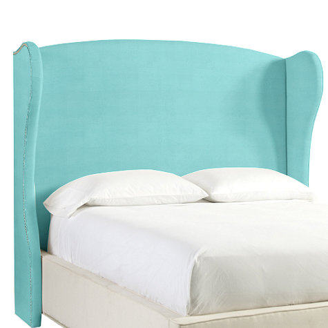 WILSHIRE UPHOLSTERED HEADBOARD WITH NAILHEAD TRIM
