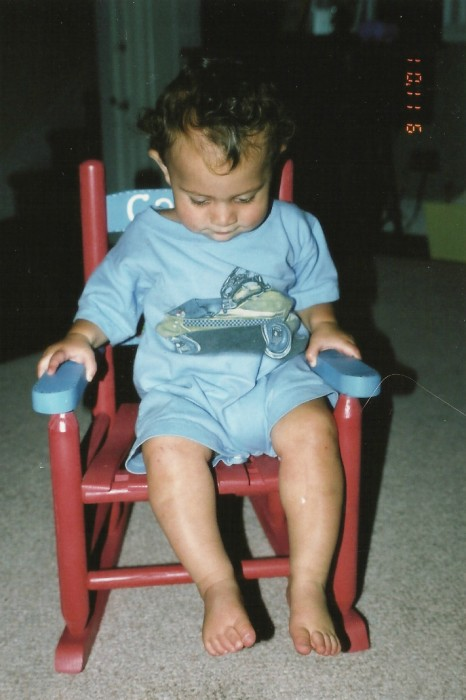 Coopers Birthday Rocking chair