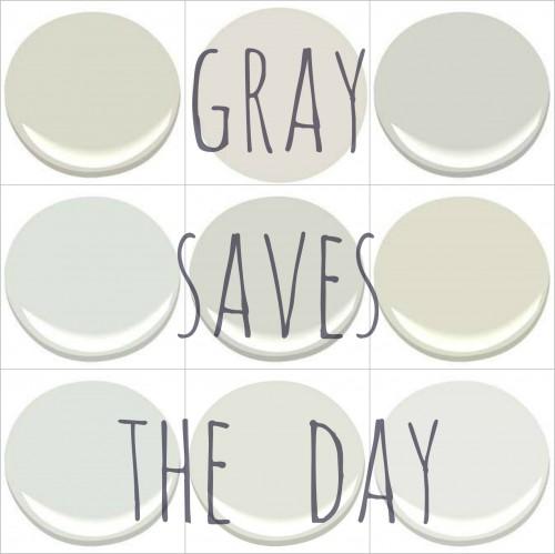 MORE WONDERFUL PALE GRAYS: BALBOA MIST, CLASSIC GRAY, GRAY MIST, HORIZON,  MOONSHINE, MORNING DEW. SILVER SATIN,WITE DOWN,  WHITE WISP