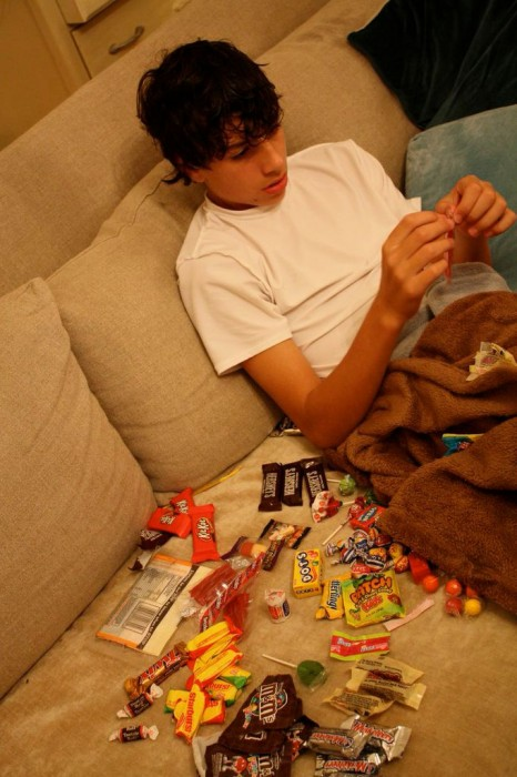 counting candy!
