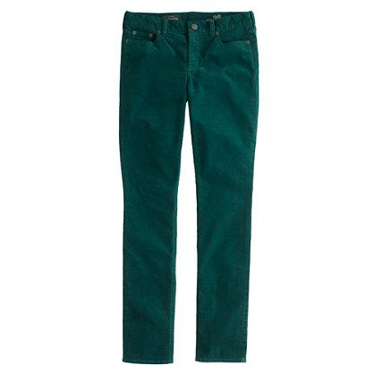 J CREW REID CORD IN DEEP FOREST - ON SALE NOW