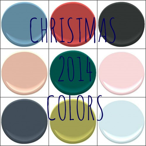 BENJAMIN MOORE: BLUE NOSE, CHILI PEPPER, BLACK SATIN, CRAZY FOR YOU, SHERWOOD FOREST, RIBBON PINK, HALE NAVY, JALAPENO AND HARBOR FOG