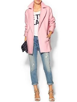 JOA Blush Long Line Coat
