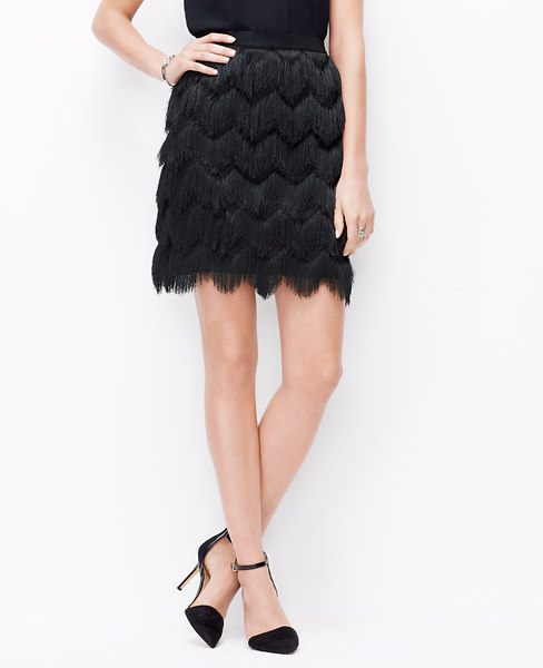 ANN TAYLOR FRINGE SKIRT TAKE 50% OFF CODE: PARTY50