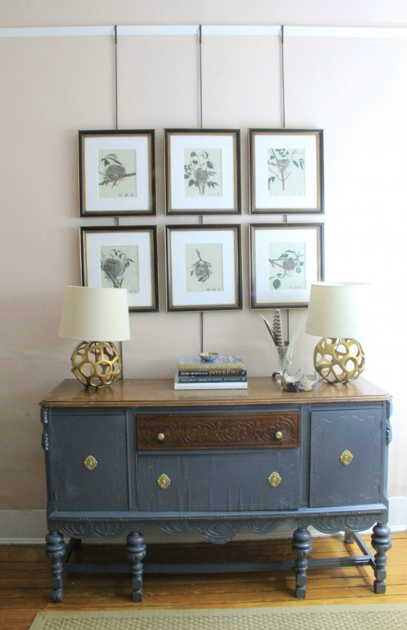SIDEBOARD PAINTED ANCHOR GRAY