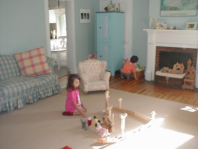 Blocks in the playroom