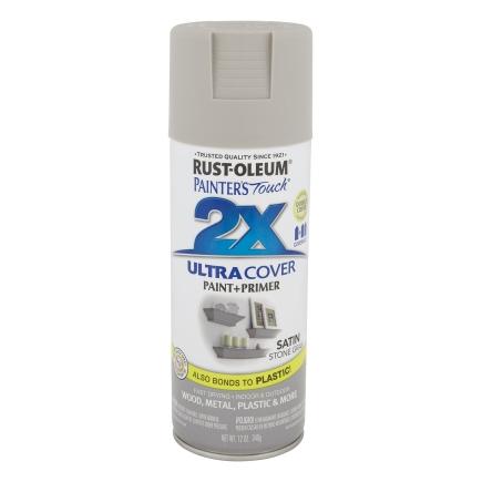 Rustoleum 12 oz. Satin Stone Gray General Purpose Spray Paint