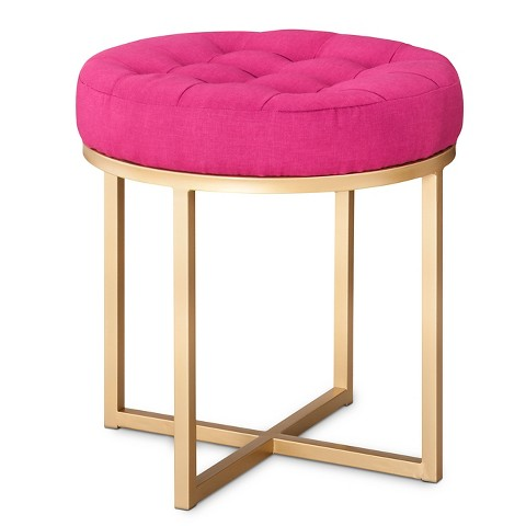 Threshold™ Button Tufted Ottoman - Pink