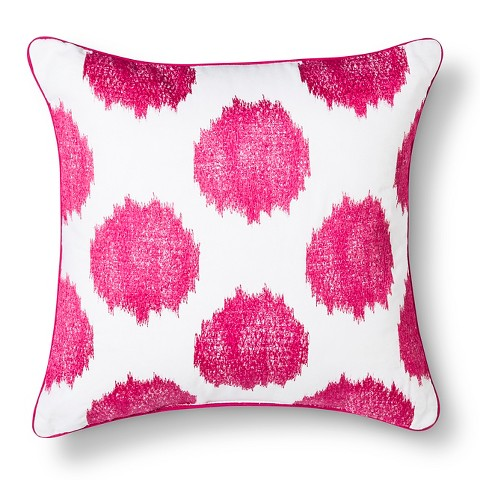 Threshold™ Ikat Dots Decorative Pillow - Rose AND NAVY