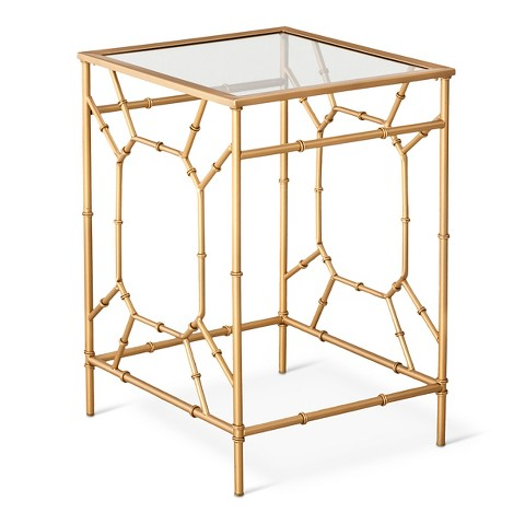 "Threshold™ Bamboo Motif Accent Table - Gold $69! AND TAKE 10% MORE OFF WITH ""MADNESS"""