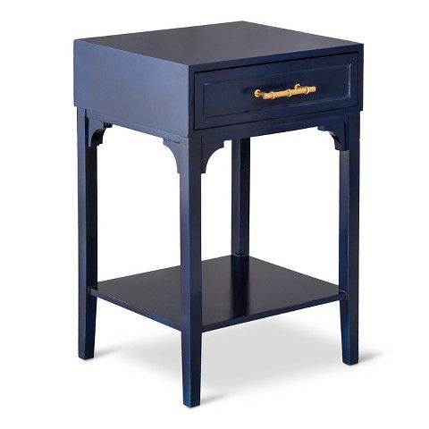 "THRESHOLD ACCENT TABLE WITH BLUE MOTIF HANDLE - $69!!! AND TAKE AN ADDITIONAL 15% OFF WITH THE PROMO CODE ""MADNESS""!!!"