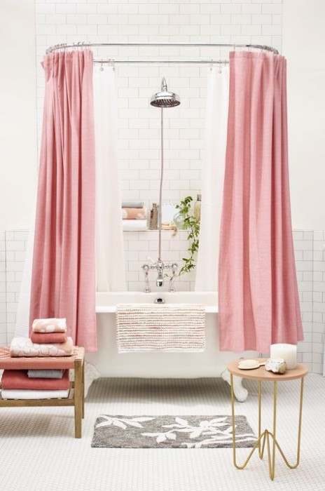 PINK SHOWER CURTAIN AT TARGET
