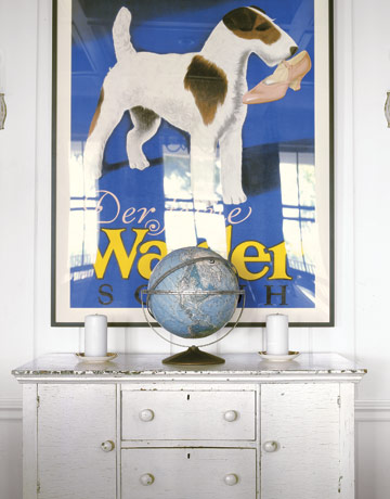 VINTAGE DOG POSTER GEORGE AND BESSIE