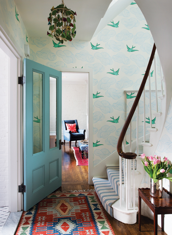 JULIA ROTHMAN DAYDREAM WALLPAPER IN BEACON HILL TOWNHOUSE - BOSTON MAGAZINE