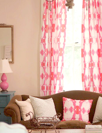 TOP TAB LIVING ROOM DRAPES MADE WITH THE SPOONFLOWER FABRIC I DESIGNED!