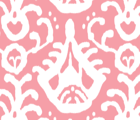 WARM PINK IKAT BY DOMESTICATE ON SPOONFLOWER