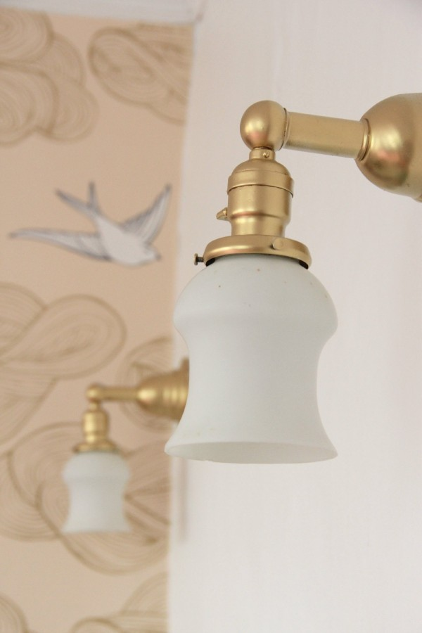 I SPRAY-PAINTED her SCONCES GOLD