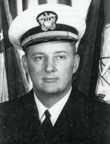 LCDR STANLEY EDWARD OLMSTEAD BORN NOVEMBER 12, 1933.