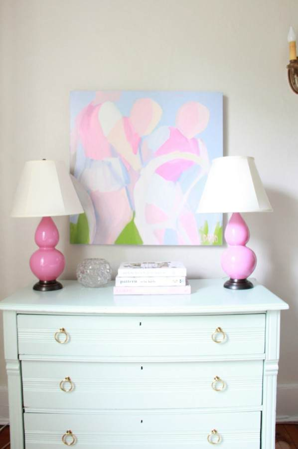 I PAINTED THE YARDSALE DRESSER BENJAMIN MOORE GALT BLUE...IN ADVANCE SEMI GLOSS