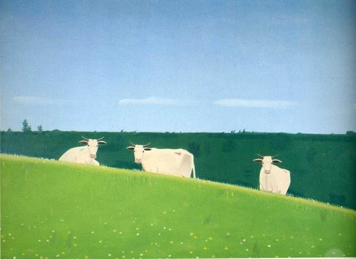 THREE COWS BY ALEX KATZ
