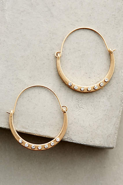 CRYSTAL DOTTED HOOPS